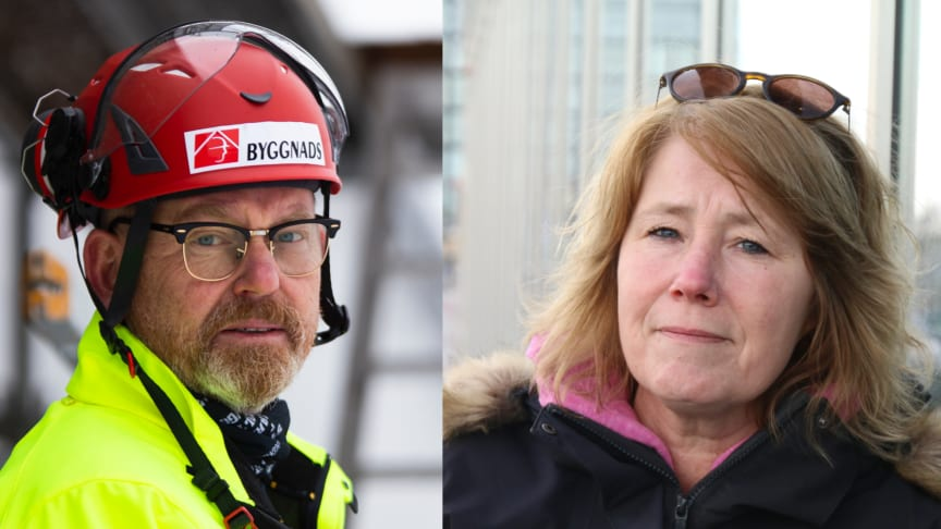 Johan Lindholm, ordförande Riksbyggen och Johanna Frelin, vd på Riksbyggen.