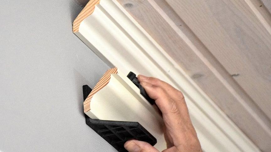 Listjiggen kan brukes på taklister som er mellom 33–69 mm brede.
