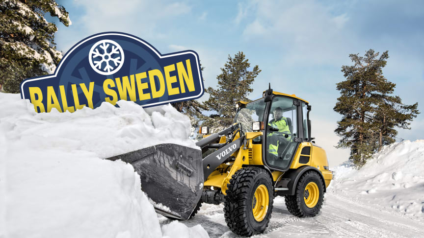 Swecon växlar upp samarbetet med Rally Sweden tillsammans med Volvo Construction Equipment