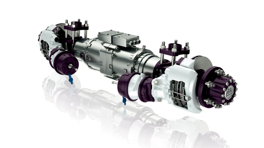 Das Konzept der elektrischen Achse wurde speziell für den Einsatz in mittelschweren Verteilerfahrzeugen entwickelt.