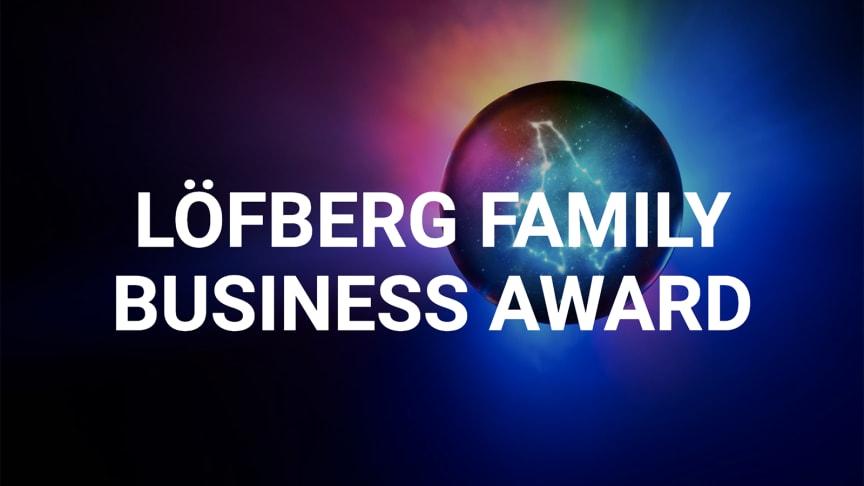 Löfberg Family Business Award går till ett värmländskt företag som förenar ägarfamiljens engagemang och delaktighet med affärsmässiga framgångar, och som därmed är en god ambassadör för familjeföretagens betydelse.