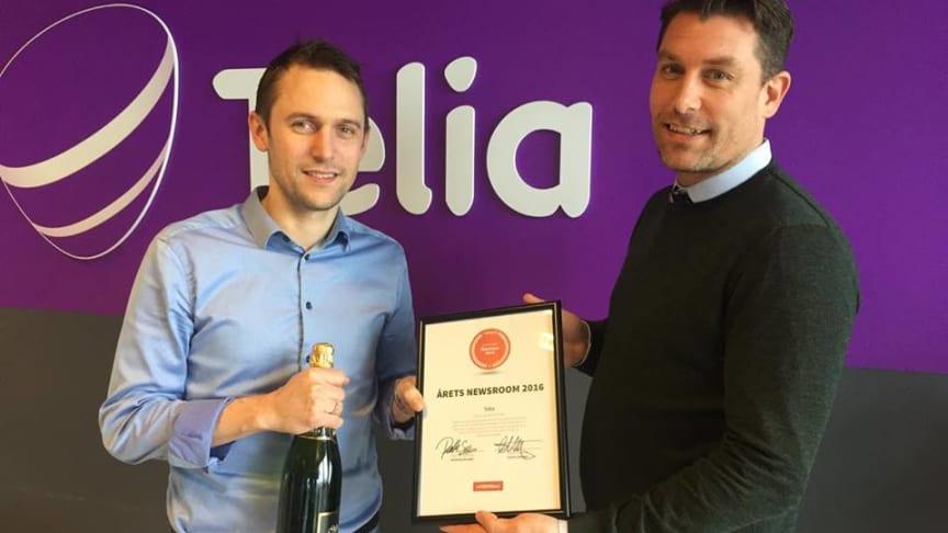 Rasmus Avnskjold, pressechef hos Telia & Simon Geoffroy, Head of Customer Succes hos Mynewsdesk