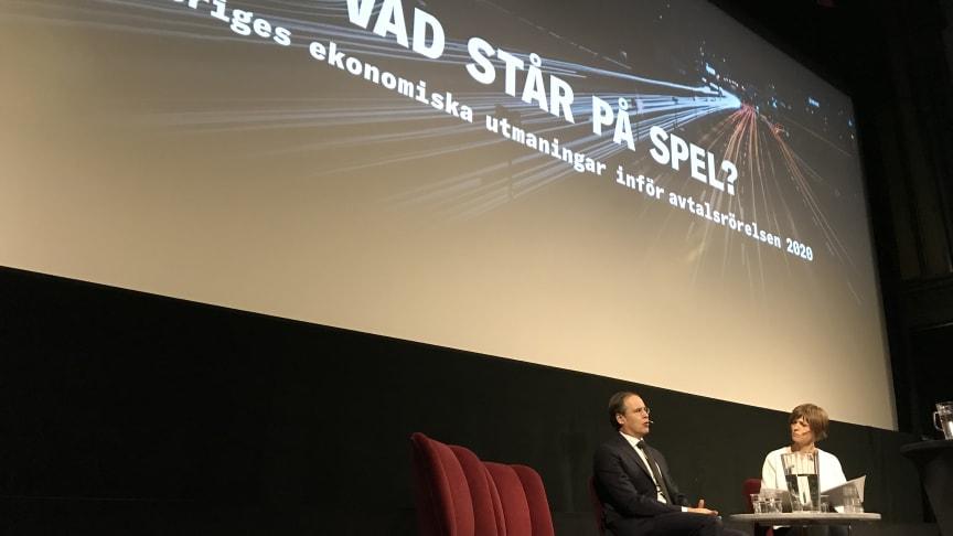 Anders Borg och Åsa Julin