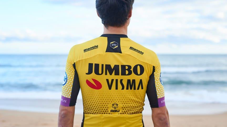 Team Jumbo-Visman uudessa ilmeessä on mukana Visman logo