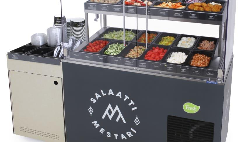 Kaupoissa ihastuttiin SalaattiMestarin uuteen vitriiniin
