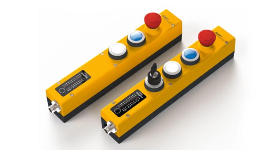 Safety Simplifier är ett säkerhets-PLC som erbjuder ett enkelt sätt att bygga skyddssystem för mobila och fasta maskiner, helt trådlöst.