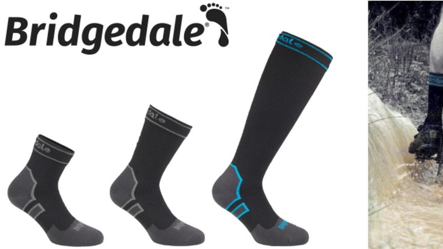 Vedenpitäviä Storm Sock -sukkia saatavana kolmea eri paksuutta ja pituutta.