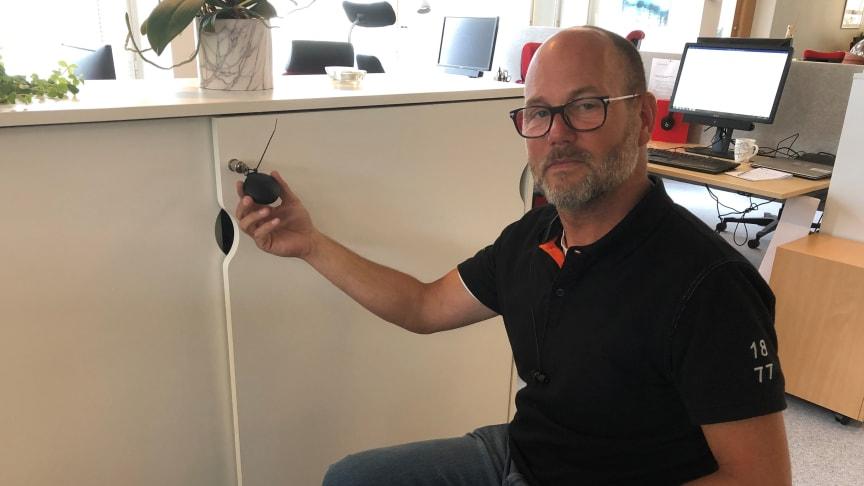 Richard Norén, radonsamordnare på Stockholmshem