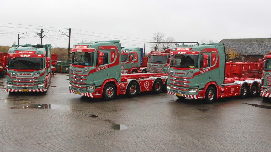 De nye Scania afspejler på bedste vis alsidigheden i Scanias modelprogram, og på samme måde afspejler de alsidigheden i kørselsopgaverne hos RTR Gruppen