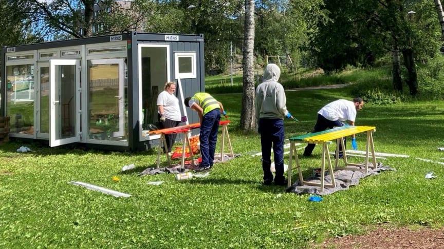 Sommerliv i Tokerudparken: Endelig farger!