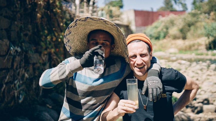 Micha Fritz, Mitbegründer von Viva con Agua, in Äthiopien