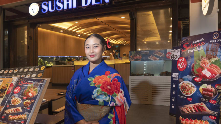 Sushi-stedene har dukket opp som paddehatter i Thailand. Det gir hyggelige tall for eksporten av fersk norsk laks og ørret. FOTO: Thomas Engström