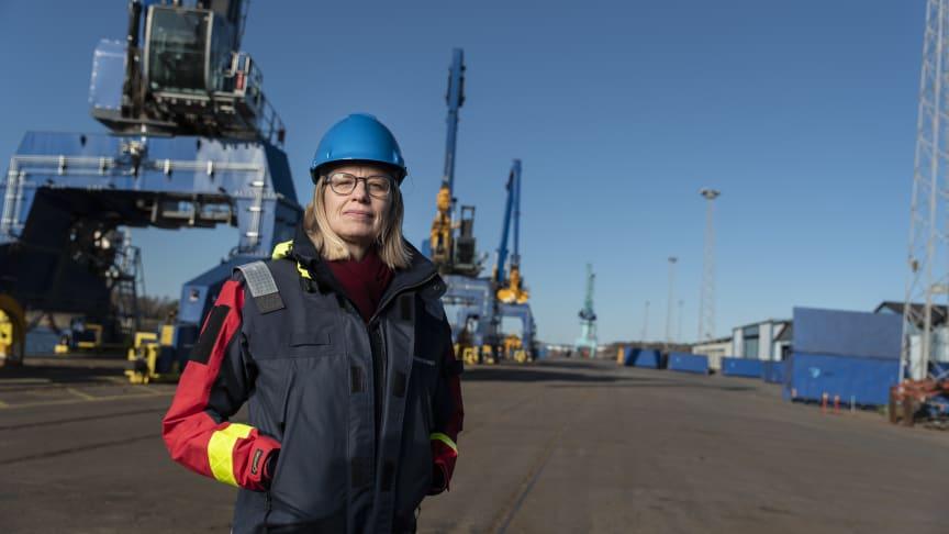 Sjöfartsverkets generaldirektör Katarina Norén. | Fotograf - Niclas Fasth / Sjöfartsverket