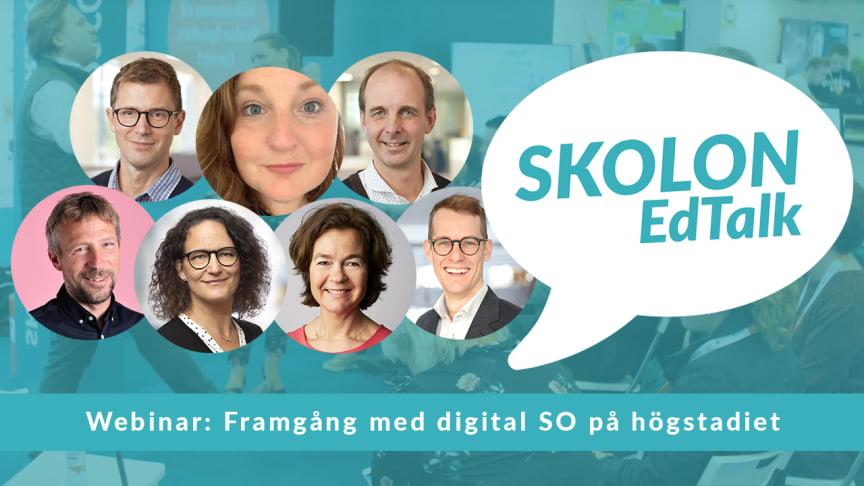 Digitalt event med Skolon EdTalk - framgång med digital SO på högstadiet
