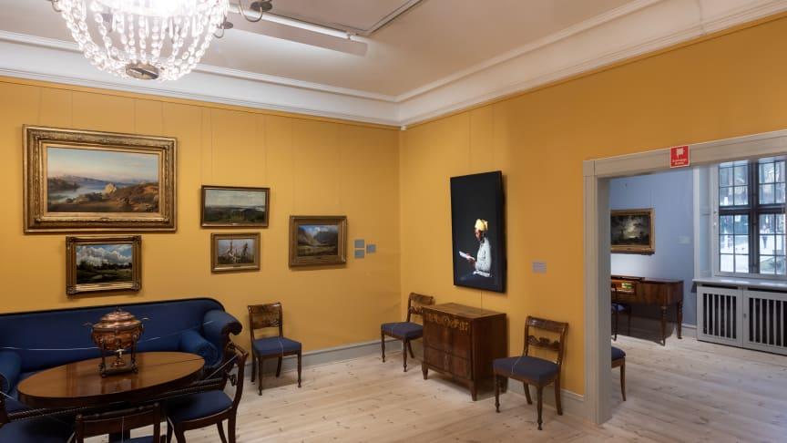 Fra utstillingen Interruptions av Jeannette Christensen. Installasjonsfoto fra Rasmus Meyers samlinger.