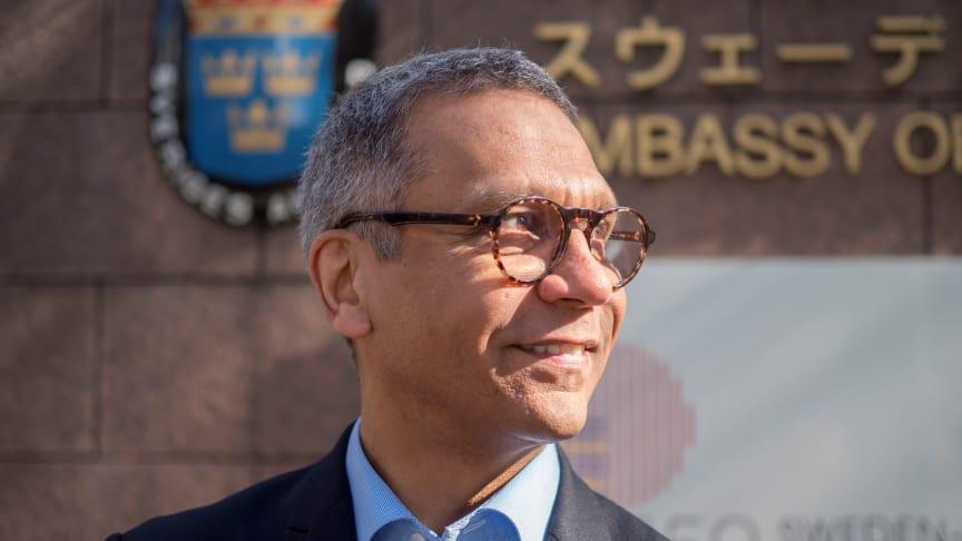 – I Japan har en fyndighet upptäckts på stort djup i havet, avslöjade Michael Jacob, innovations- och forskningsråd vid Sveriges ambassad i Tokyo. Teknik utvecklas nu för att kunna bryta i fyndigheten.