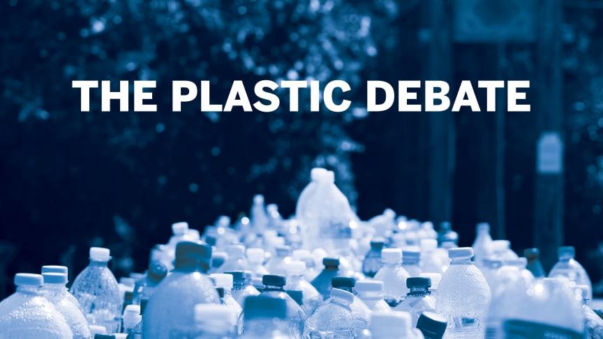 Plastic Debate äger rum på Empack, Kistamässan, den 3 oktober kl. 13.15 - 14.00