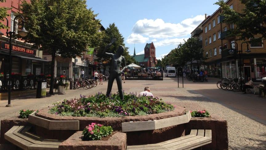 Caféernas och restaurangernas omsättning i Hässleholms centrum ökar mest i rapporten Cityklimatet. Foto: Magnus Lindstrand