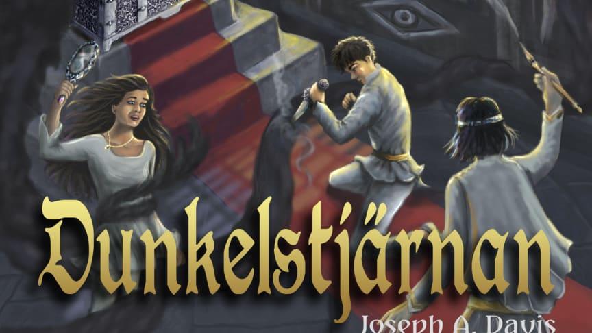 """Omslag på boken """"Kampen om Tusenvärld - Dunkelstjärnan"""""""