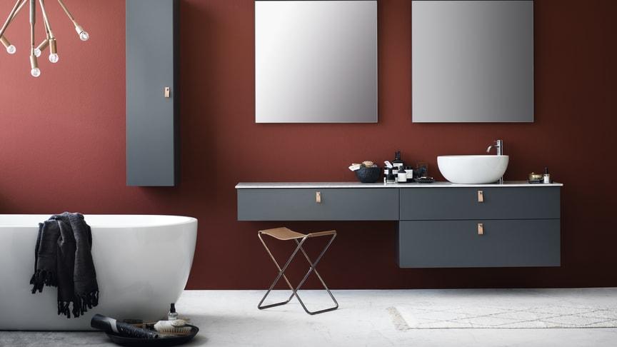 Svedbergs badrumsserie Forma i egen NCS-kulör