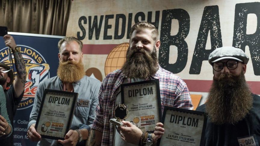 """David Eriksson från Sundbyberg korades till """"Best Styled Beard 2017"""" på World Beard Day i Stockholm!"""