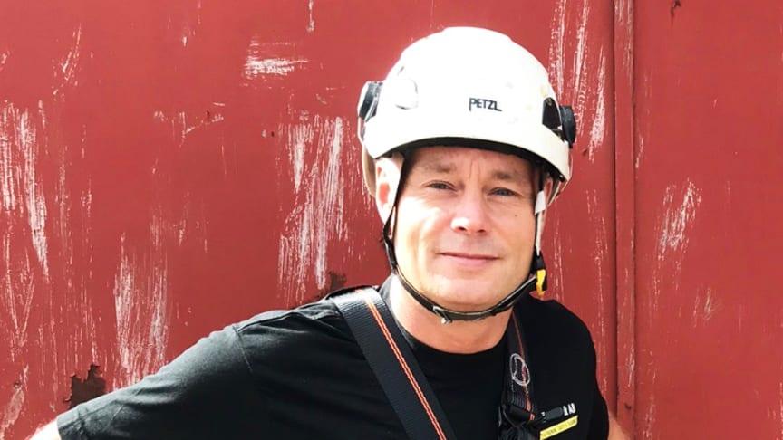 Christian Persson, affärsområdeschef för fallskydd på Klätterteknik