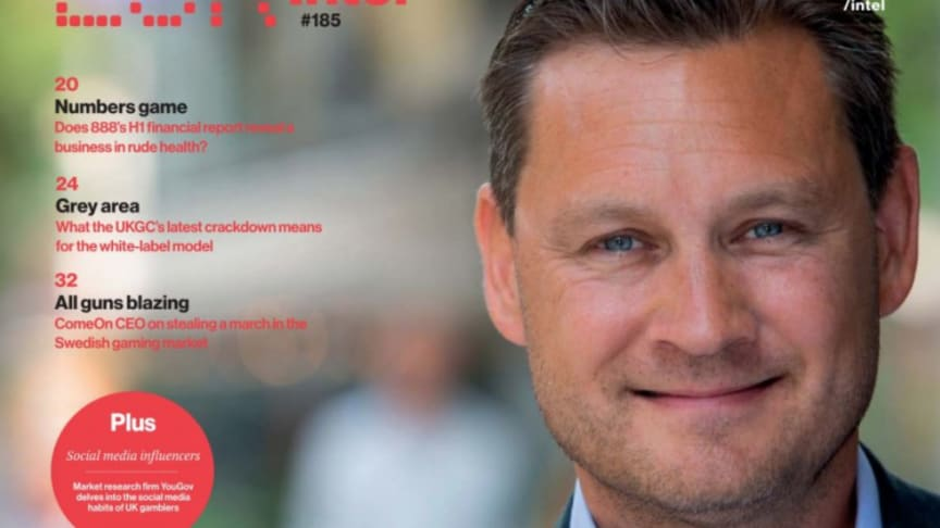 Gustaf Hagman, Group CEO of LeoVegas - cover feature, EGR #185, 2019-09-30.