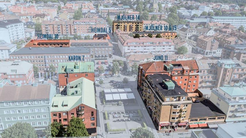 Pulsenkoncernen växer på fastighetssidan  - förvärvar sju fastigheter i centrala Borås