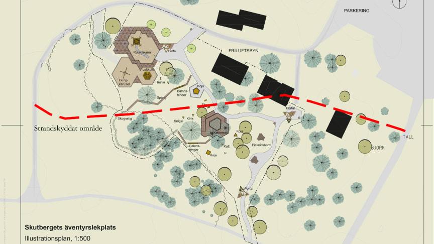 Länsstyrelsen upphäver överklagat beslut gällande äventyrslekplats på Skutberget