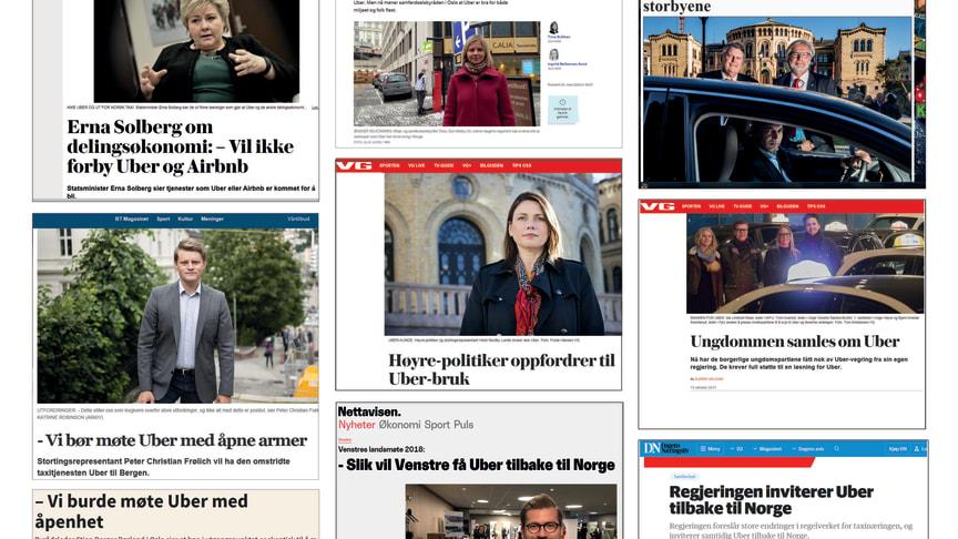 Regjeringspartienes politikere har drevet årelang lobbyvirksomhet for Uber. Det er den egentlige bakgrunnen for forslaget, og for at alle høringssvar kastes på båten, mener Norges Taxiforbund.