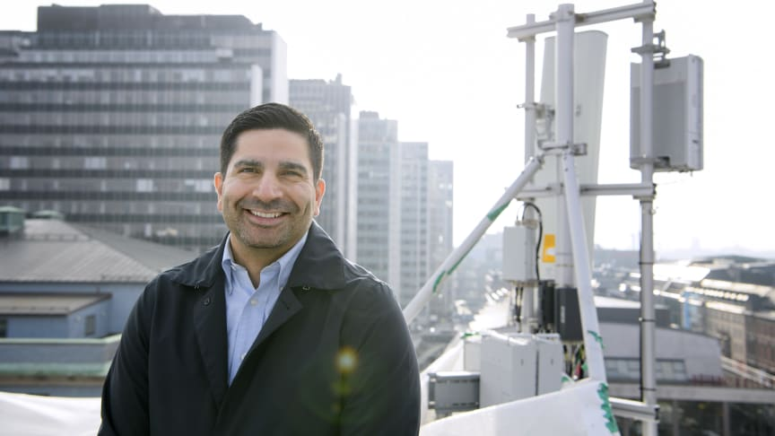 Andres Suazo, chef för mobilnät på Telenor Sverige