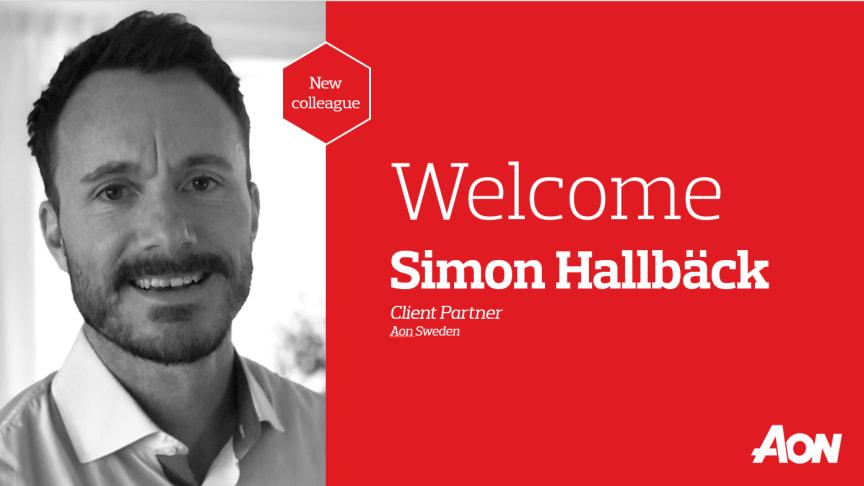Welcome Simon Hallbäck