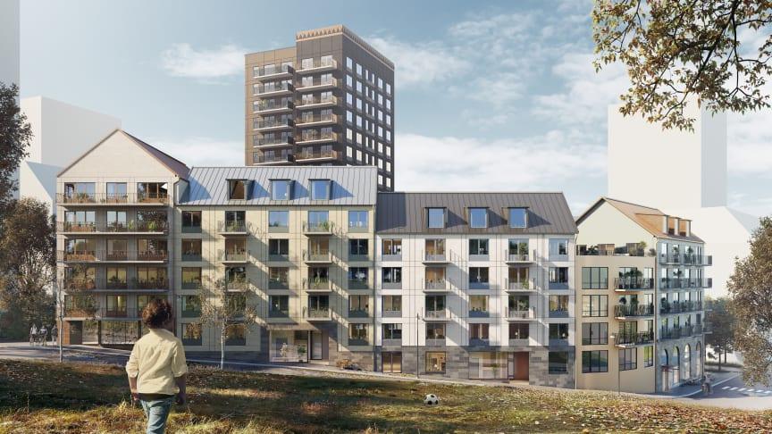 Idéskiss på det vinnande bidraget från Liljewall arkitekter.