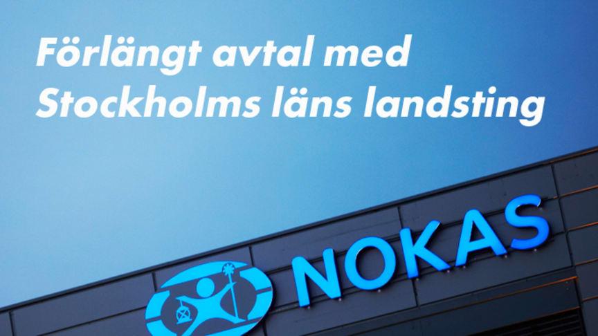 Stockholms läns landsting förlänger avtalet med Nokas