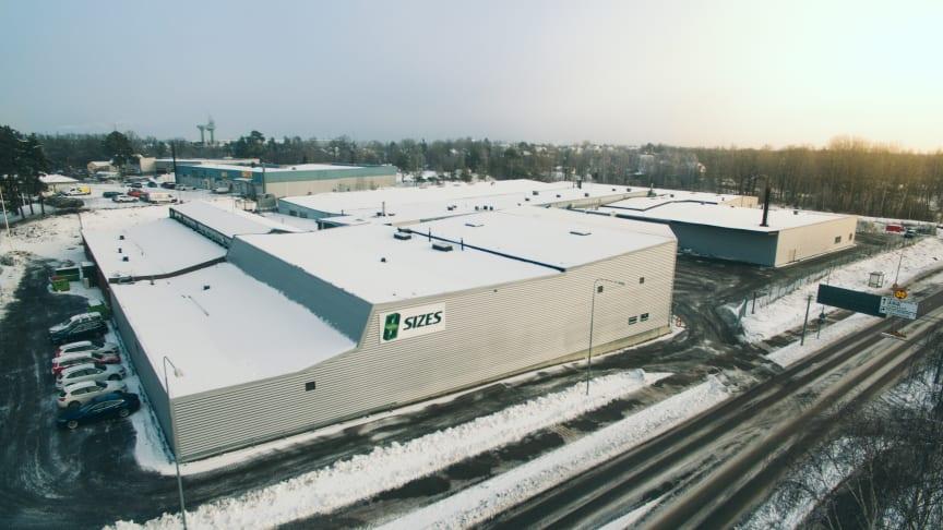 Sizes nya fabrik på Östersjövägen 1