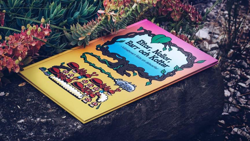 Boken Ettor, Nollor, Barr och Kottar. Illustration: Leo Hallin för GleSYS