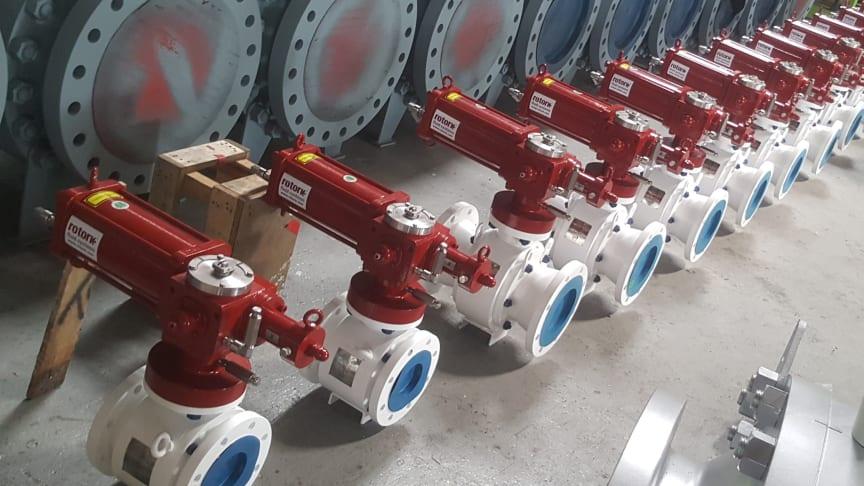 The RH range actuators, ready to be installed 70 meters below water.