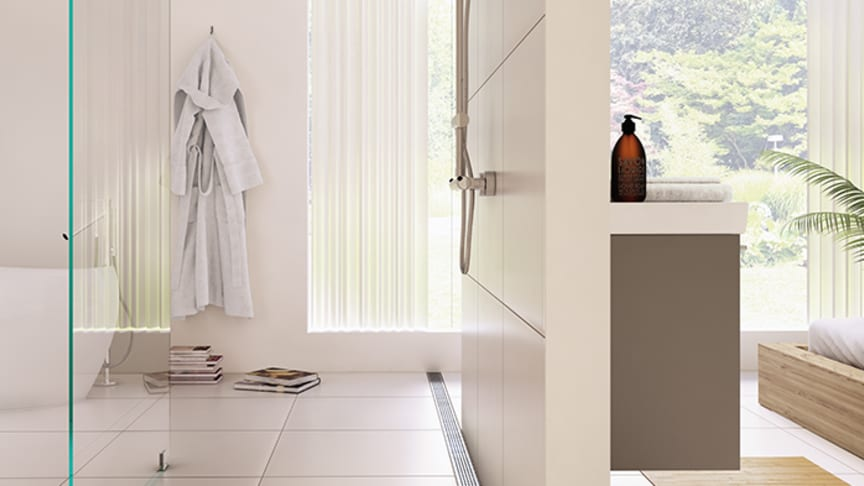 A floor gully along a wall makes your bathroom both stylish and practical.