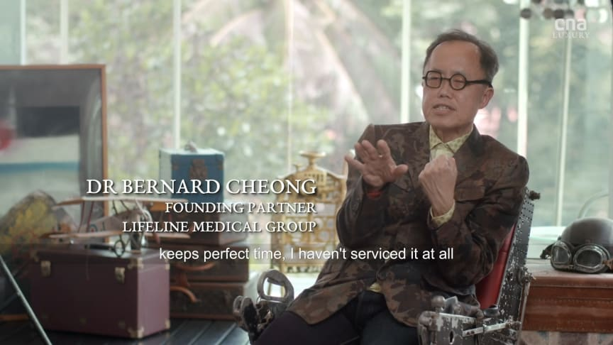 Dr Bernard Cheong in an interview with CNA Lifestyle