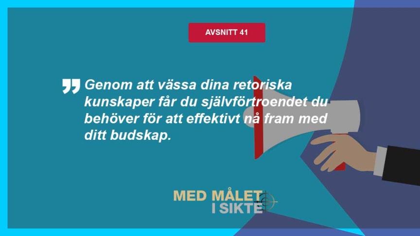 Retorikexperten Barbro Fällman i Med målet i sikte