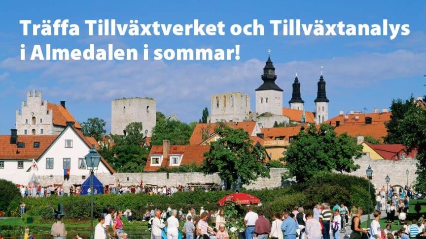 Påminnelse: Träffa Tillväxtverket och Tillväxtanalys i Almedalen!