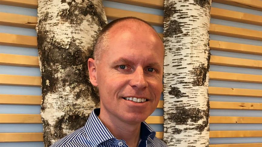 Magnus Paulander med Worksafe filtrerande halvmask