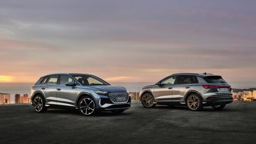 Världspremiär för eldrivna Audi Q4 e-tron