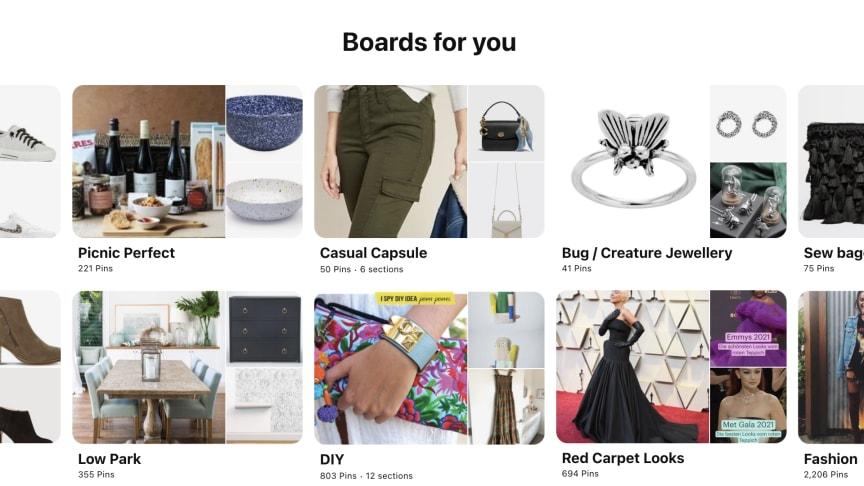 Screenshot of Pinterest website