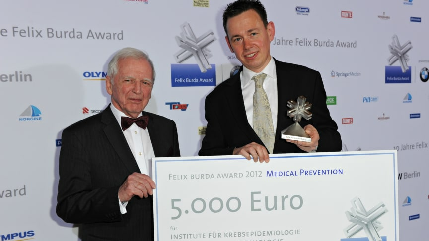 Felix Burda Award 2013 erweitert Kategorie Medizin.  Ausschreibung eröffnet.