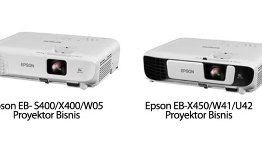 Epson Meluncurkan Proyektor Multi-fungsi Terbaru EB-S400/X400/W05 dan EB-X450/W41/U42
