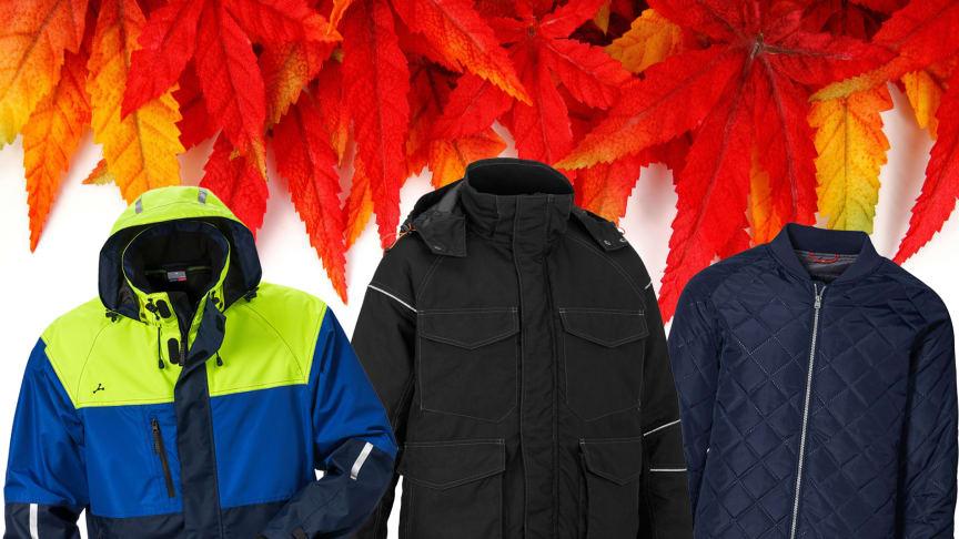 Jackorna som verkligen levererar i höst kommer från Fristads Kansas, Worksafe och ID