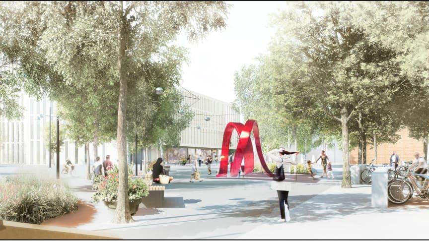 Passage blev vinnande förslag för konstnärlig utsmyckning av Dag Hammarskjölds Torg, Malmö Live