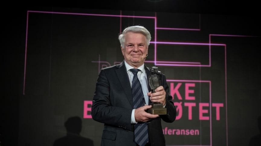 Tore Thorstensen mottok Byggenæringens Ærespris 2020. Foto: Vegard Breie
