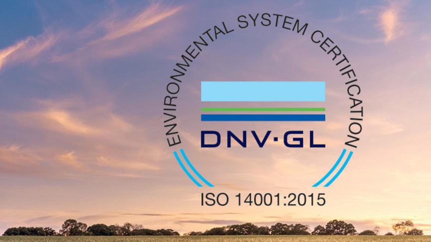 DNV GL ISO 14001 Certifiering